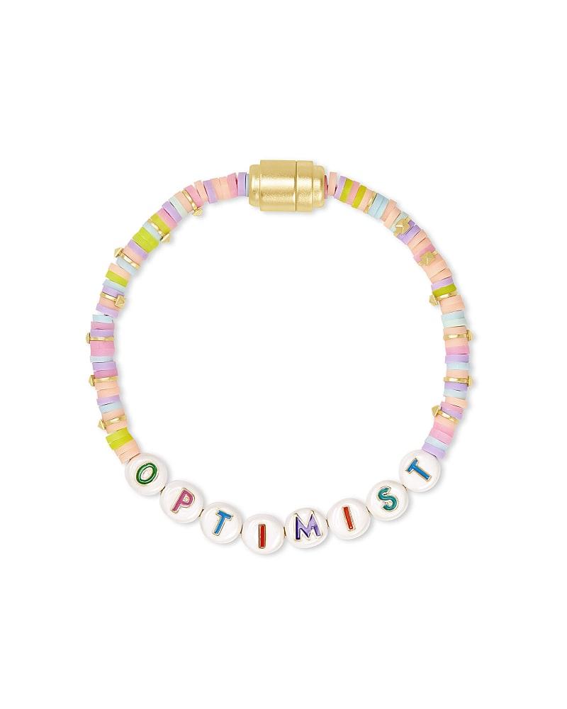 Reece Optimist Gold Friendship Bracelet in Pink Pastel Mix