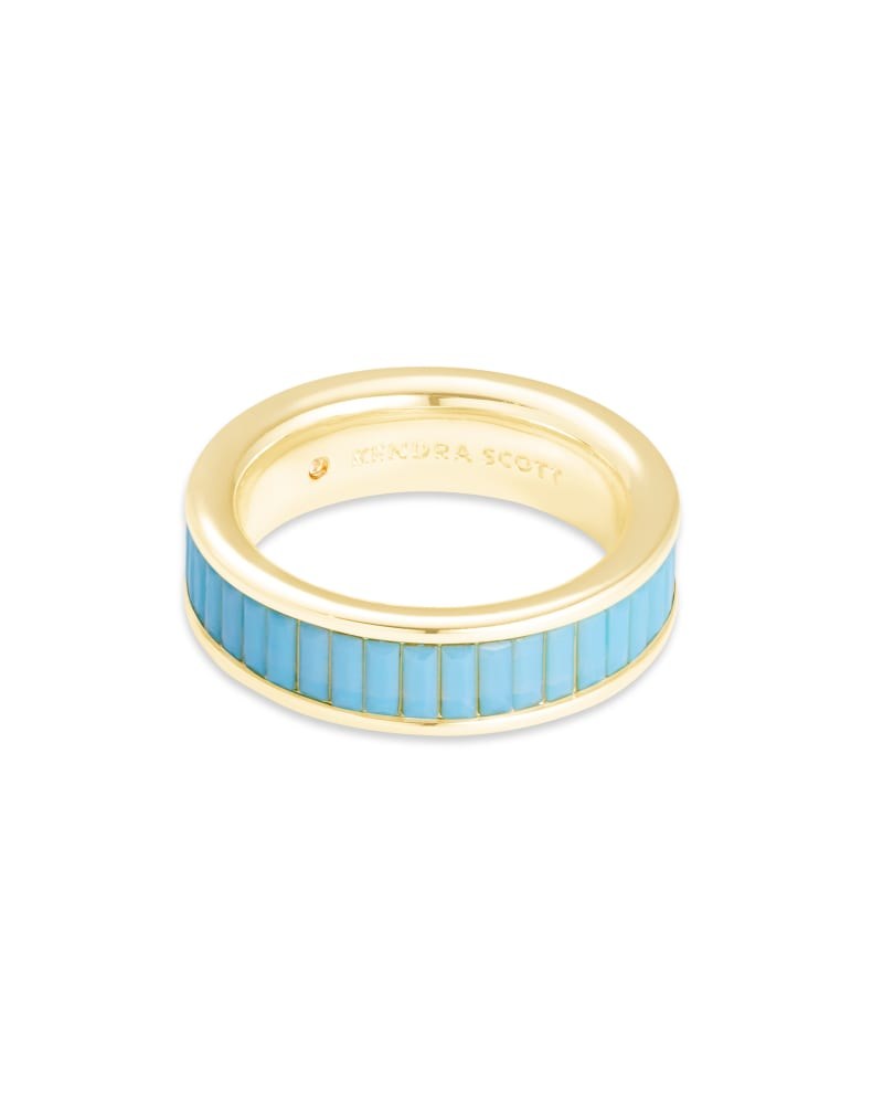 Jack Gold Band Ring in Turquoise Crystal
