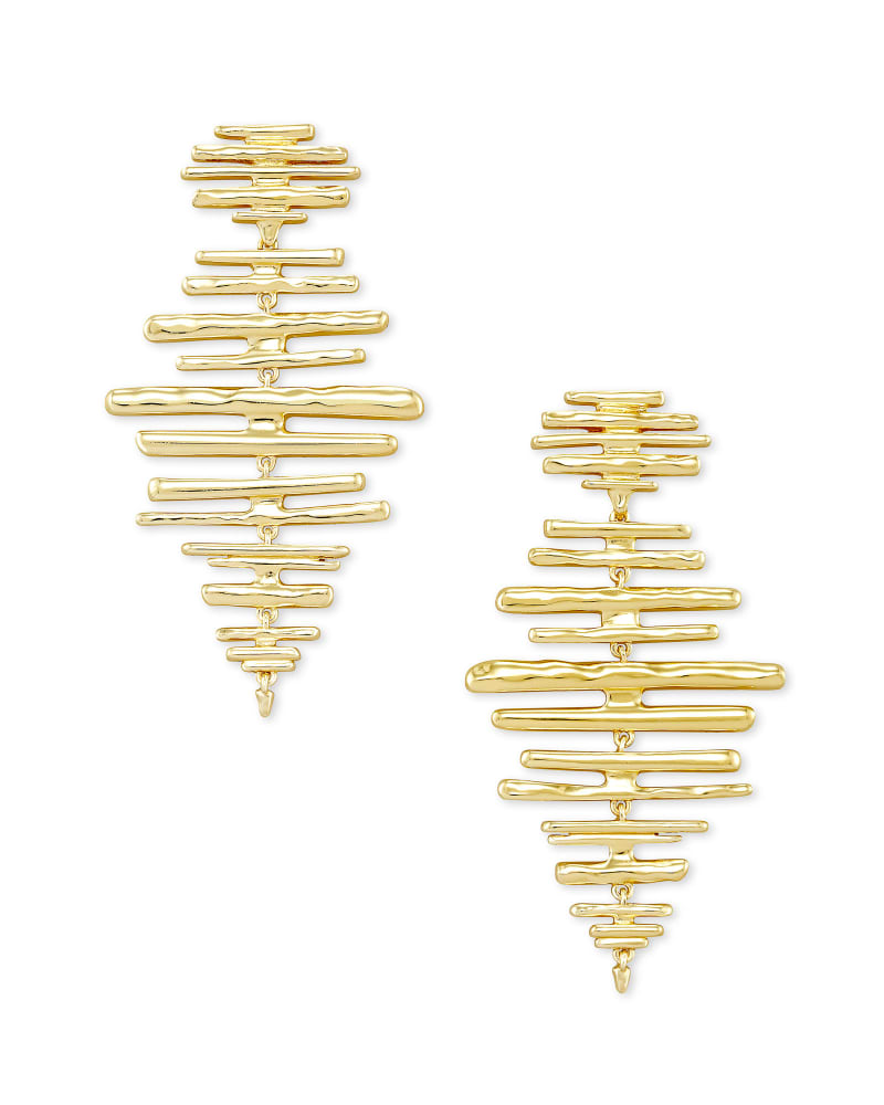 Rylan Statement Earrings in Gold   Kendra Scott