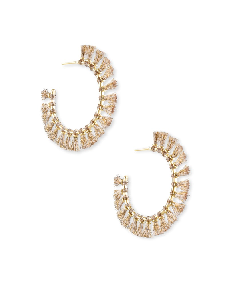 Evie Gold Hoop Earrings in Gold