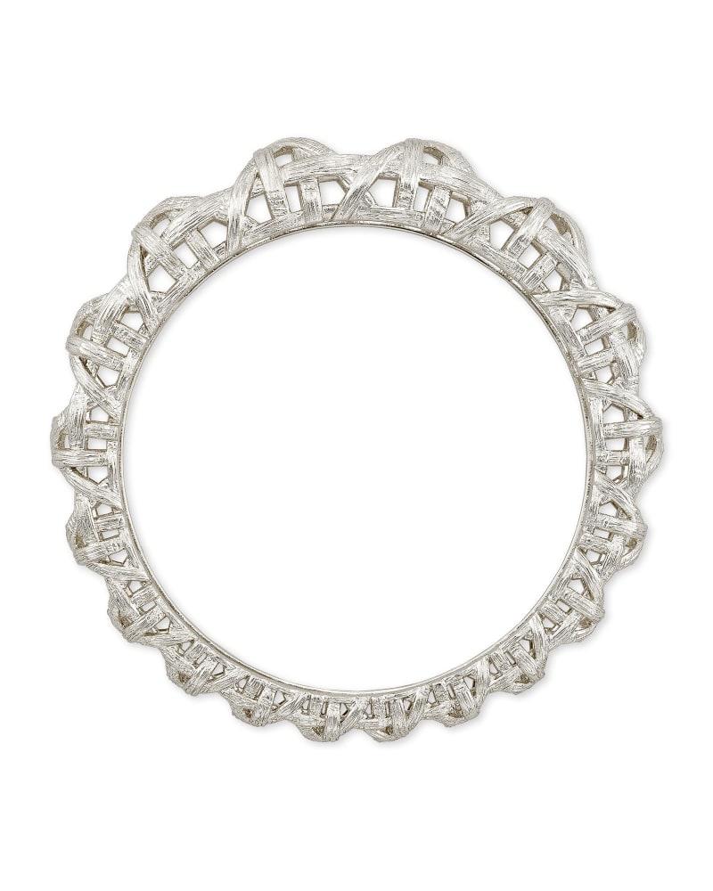Natalie Bangle Bracelet in Silver
