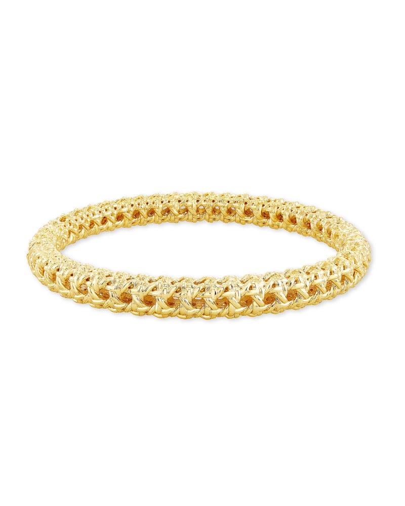 Natalie Hinge Bangle Bracelet in Gold