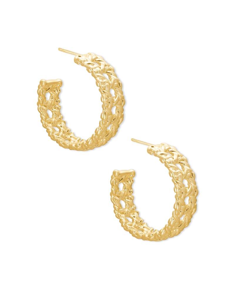 Natalie Gold Hoop Earrings in Gold   Kendra Scott