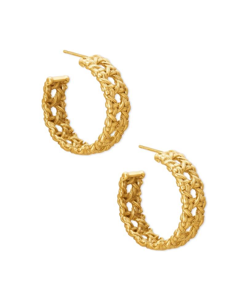 Natalie Vintage Gold Hoop Earrings in Vintage Gold