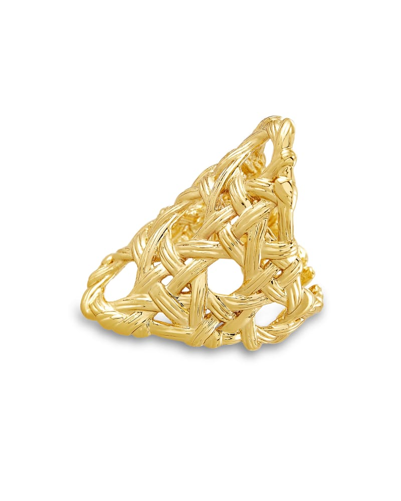 Natalie Statement Ring in Gold