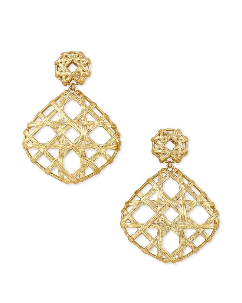 Natalie Gold Statement Earrings in Gold   Kendra Scott