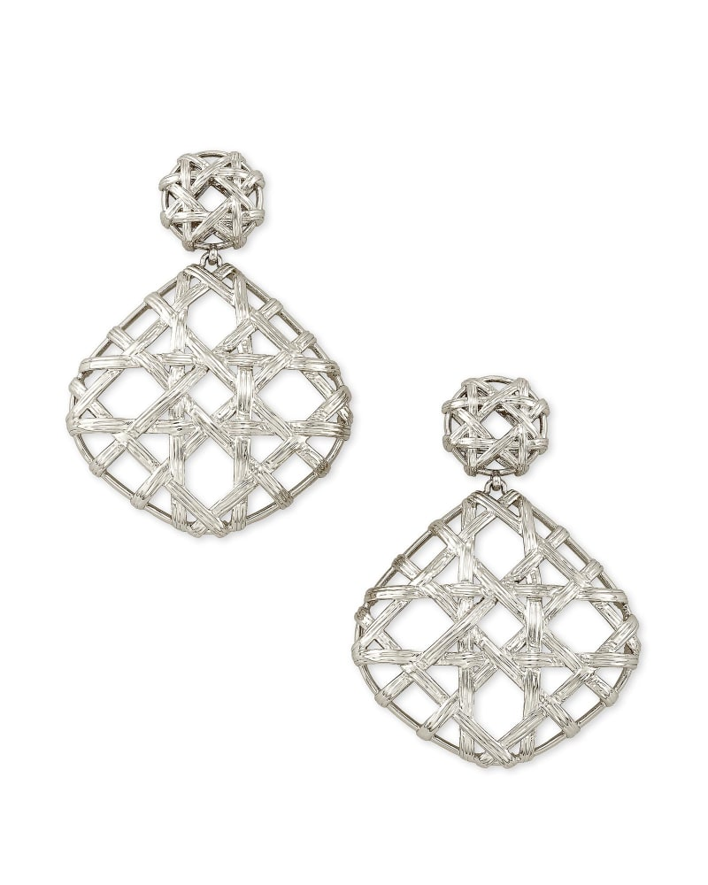 Natalie Silver Statement Earrings in Silver
