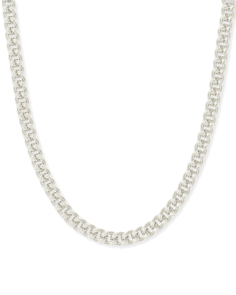 Vincent Chain Necklace in Silver   Kendra Scott