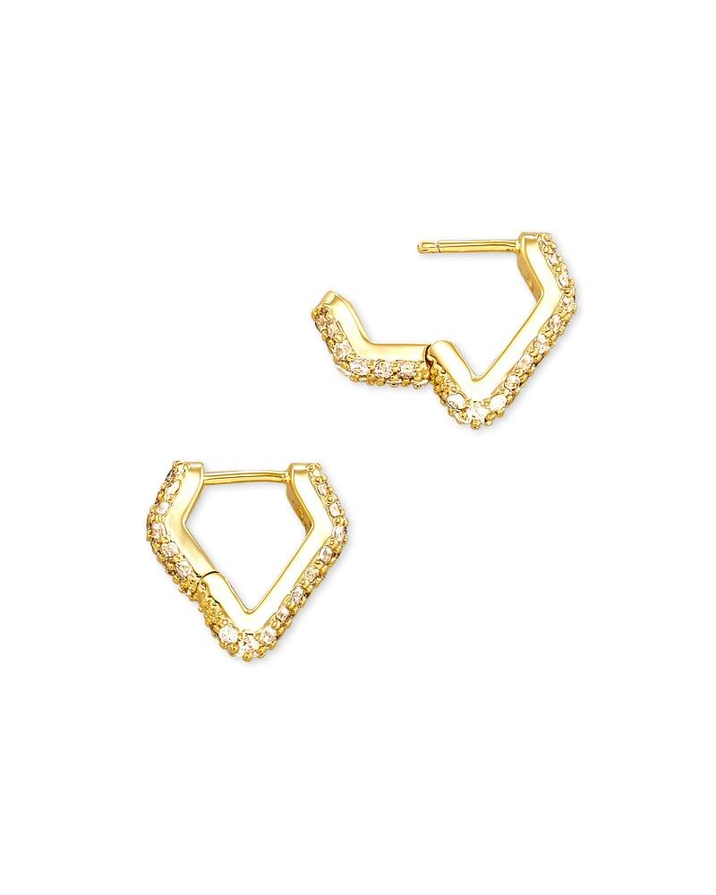 Demi Huggie Earrings In Gold