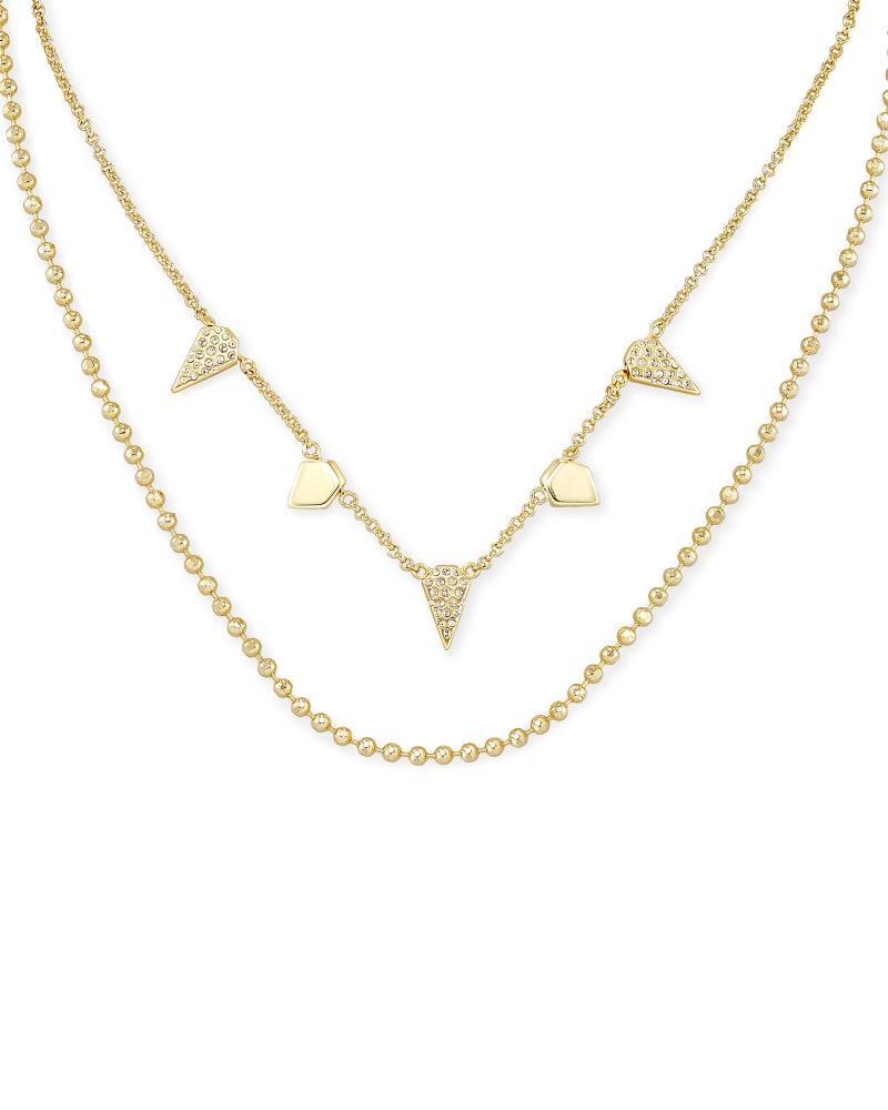 Demi Multi Strand Necklace In Gold   Kendra Scott