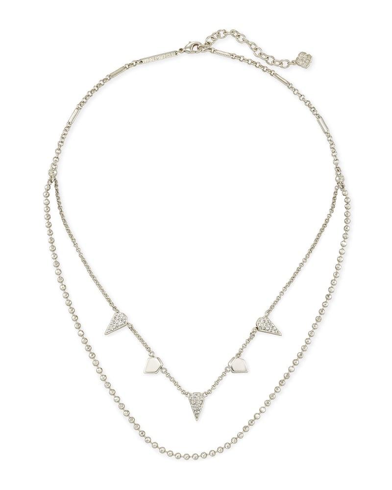 Demi Multi Strand Necklace In Silver