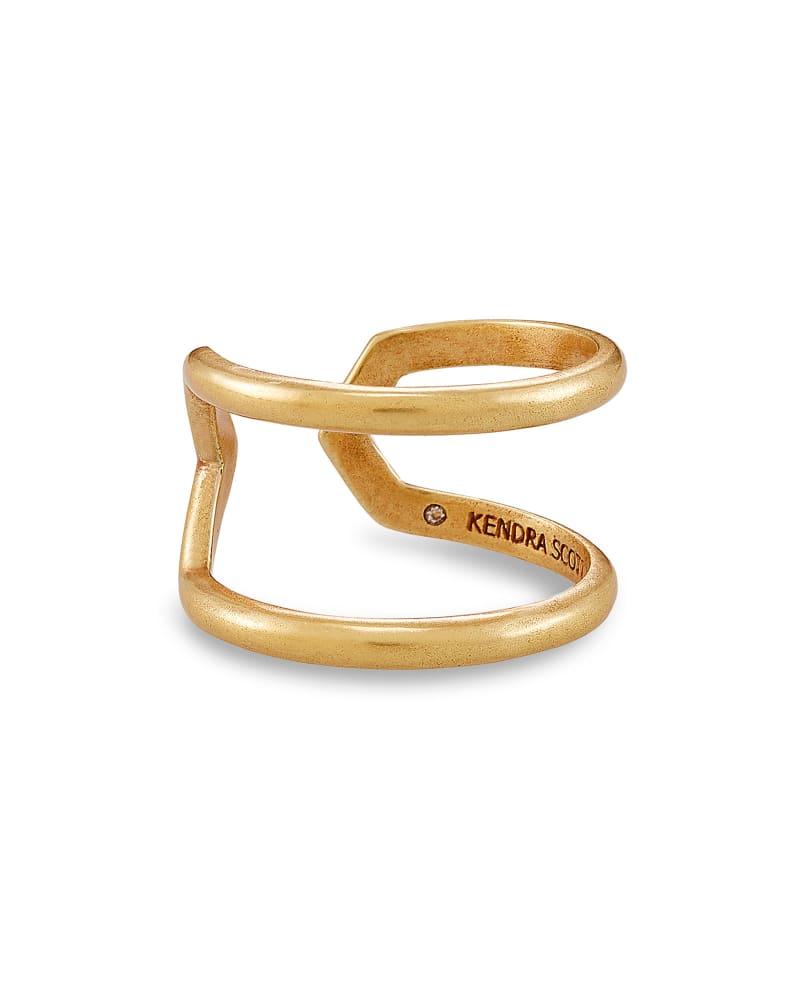 Mikki Open Ring In Vintage Gold