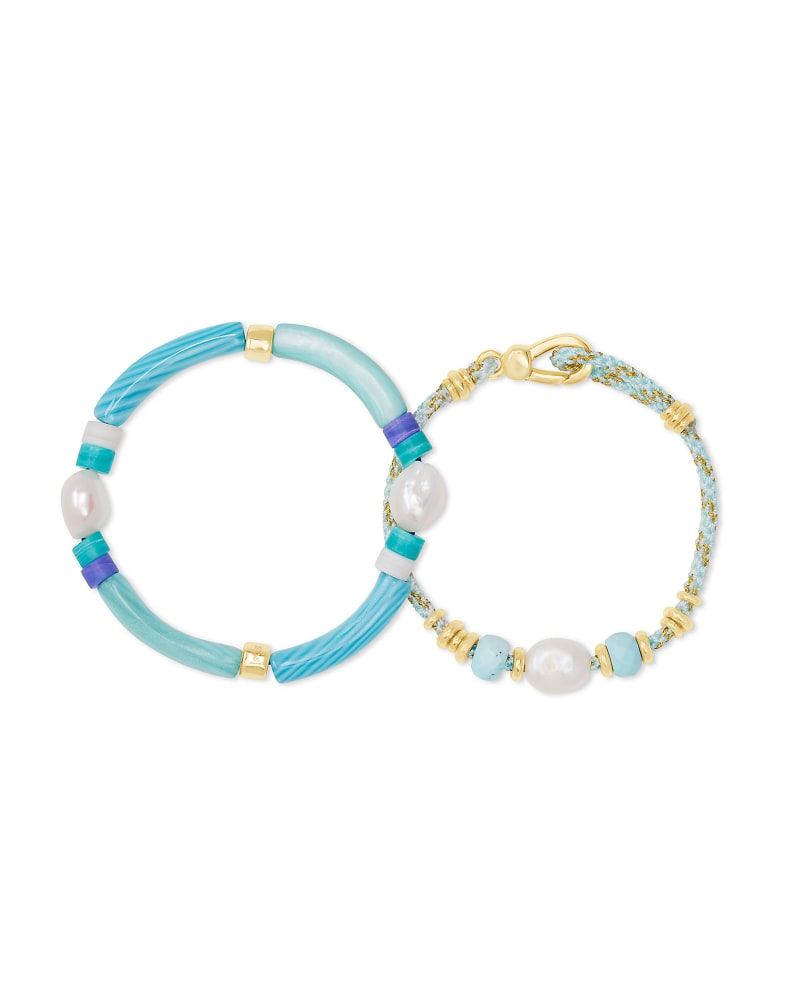 Rachel Gold Friendship Bracelet In Blue Mix
