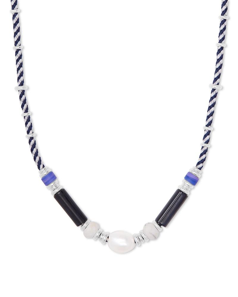 Rachel Bright Silver Choker Necklace In Black Mix