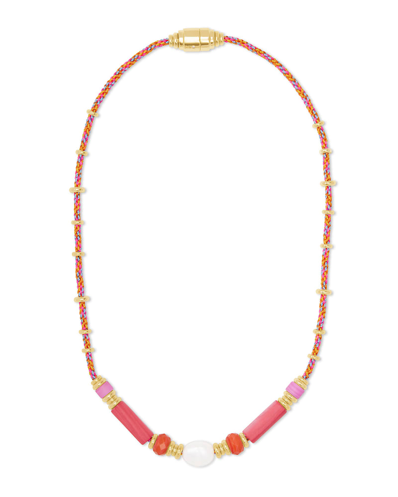 Rachel Gold Choker Necklace In Pink Mix