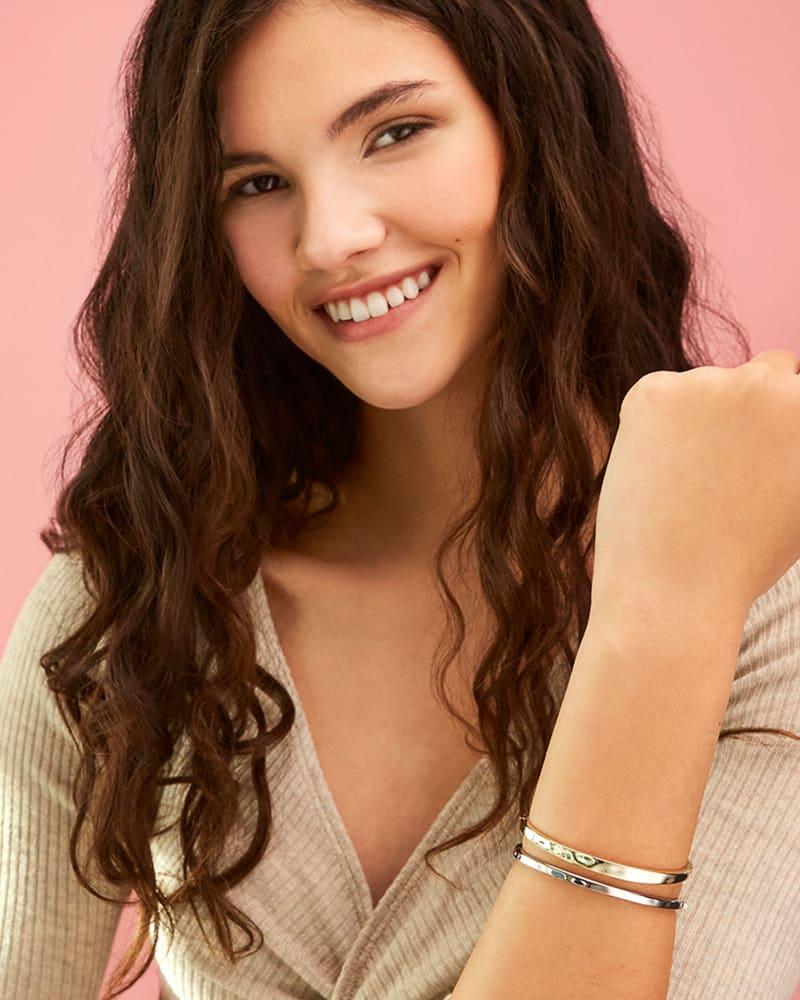Zorte Bangle Bracelet in Silver