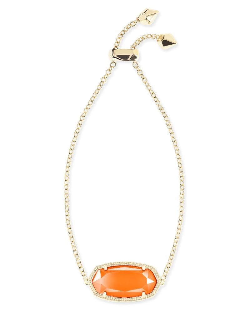 Daisy Adjustable Chain Bracelet in Orange