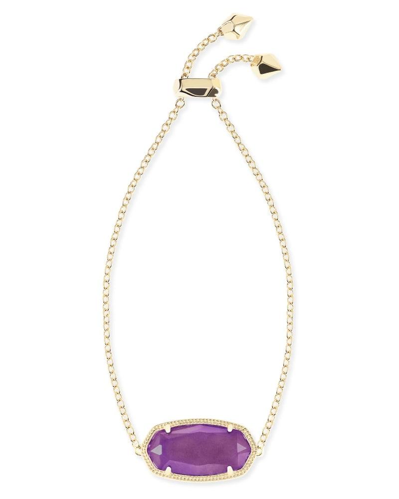 Daisy Adjustable Chain Bracelet in Purple Jade