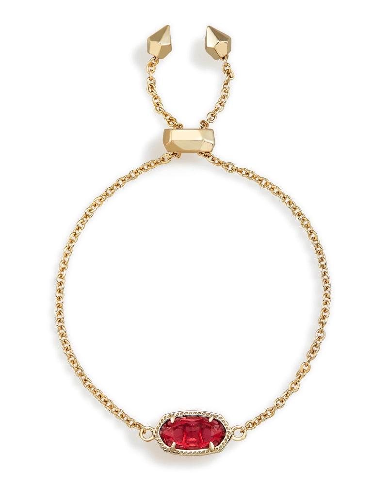 Elaina Adjustable Chain Bracelet in Berry Glass