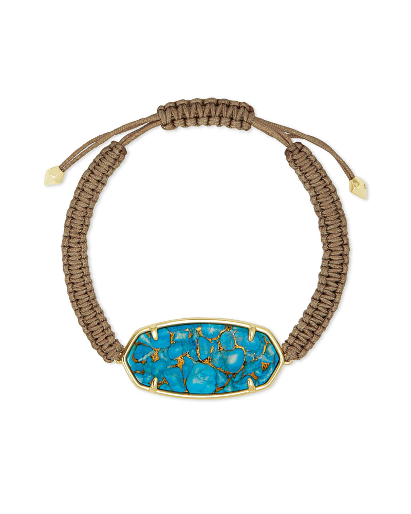 Elle Gold Friendship Bracelet in Bronze Veined Turquoise Magnesite