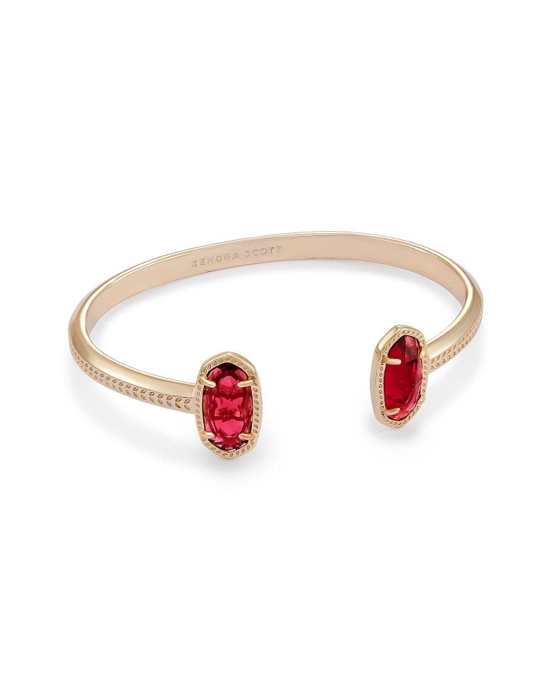 Elton Pinch Bracelet in Berry Glass