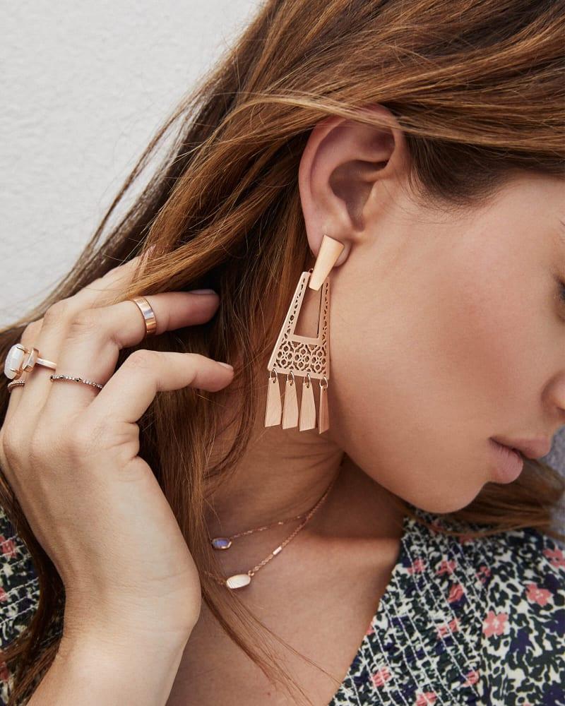Kase Fringe Earrings in Filigree