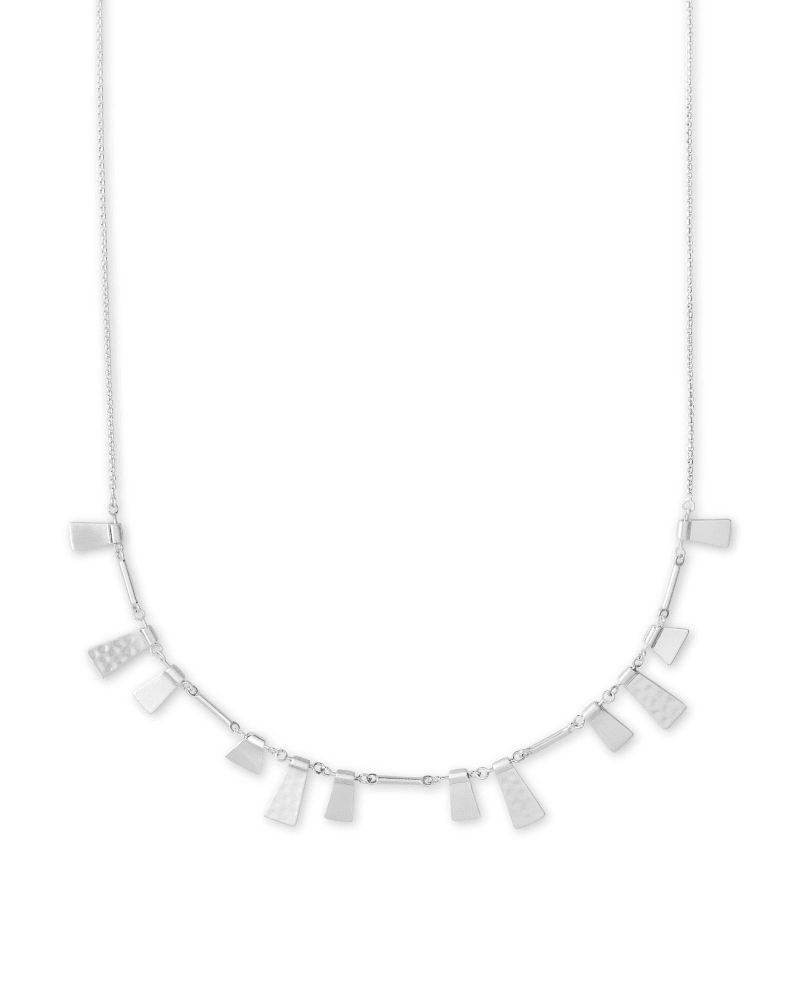 Lynne Adjustable Necklace in Bright Silver
