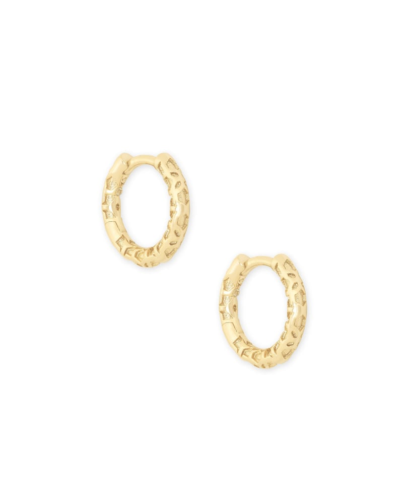 Maggie Huggie Earrings in Gold Filigree | Kendra Scott