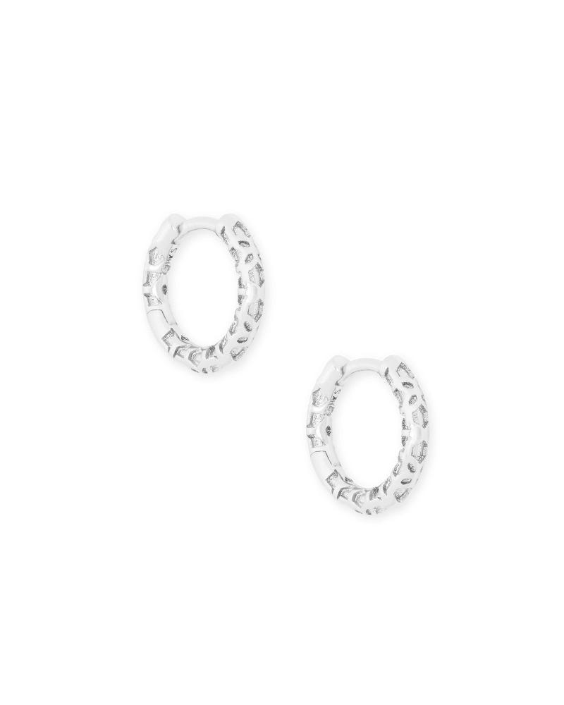 Maggie Huggie Earrings in Silver Filigree