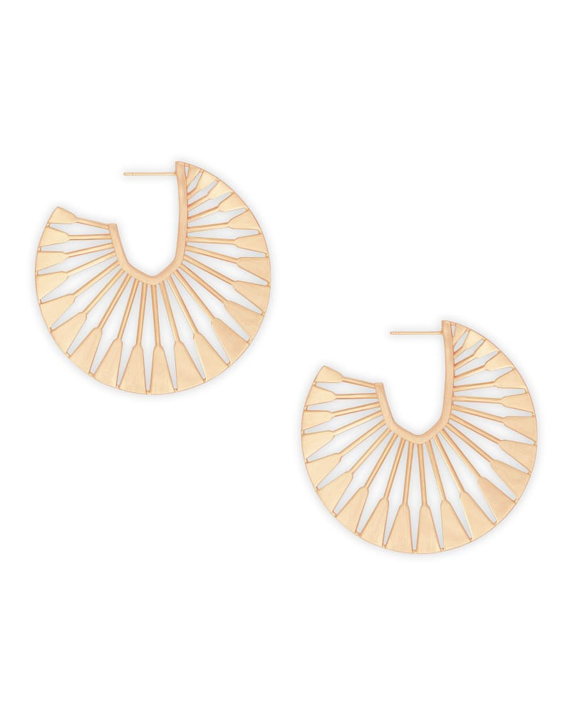 Deanne Hoop Earrings in Rose Gold