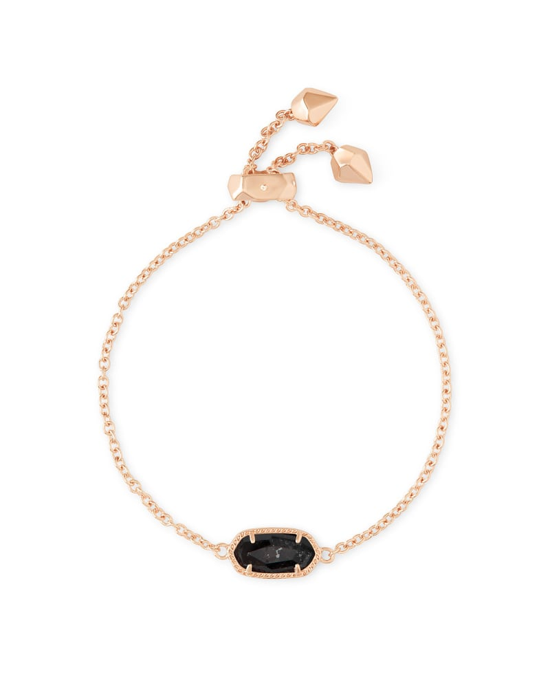 Elaina Adjustable Chain Bracelet in Black Granite