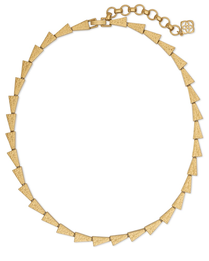 Leon Collar Necklace in Vintage Gold