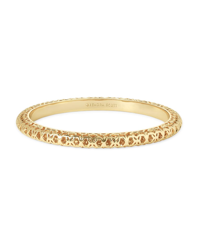Maggie Bangle Bracelet in Gold Filigree | Kendra Scott