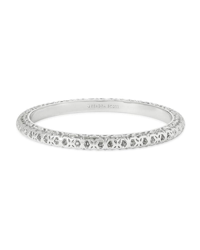 Maggie Bangle Bracelet in Silver Filigree