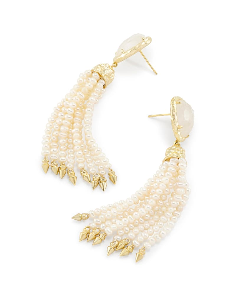 Blossom Statement Earrings in Crystal Ivory Illusion