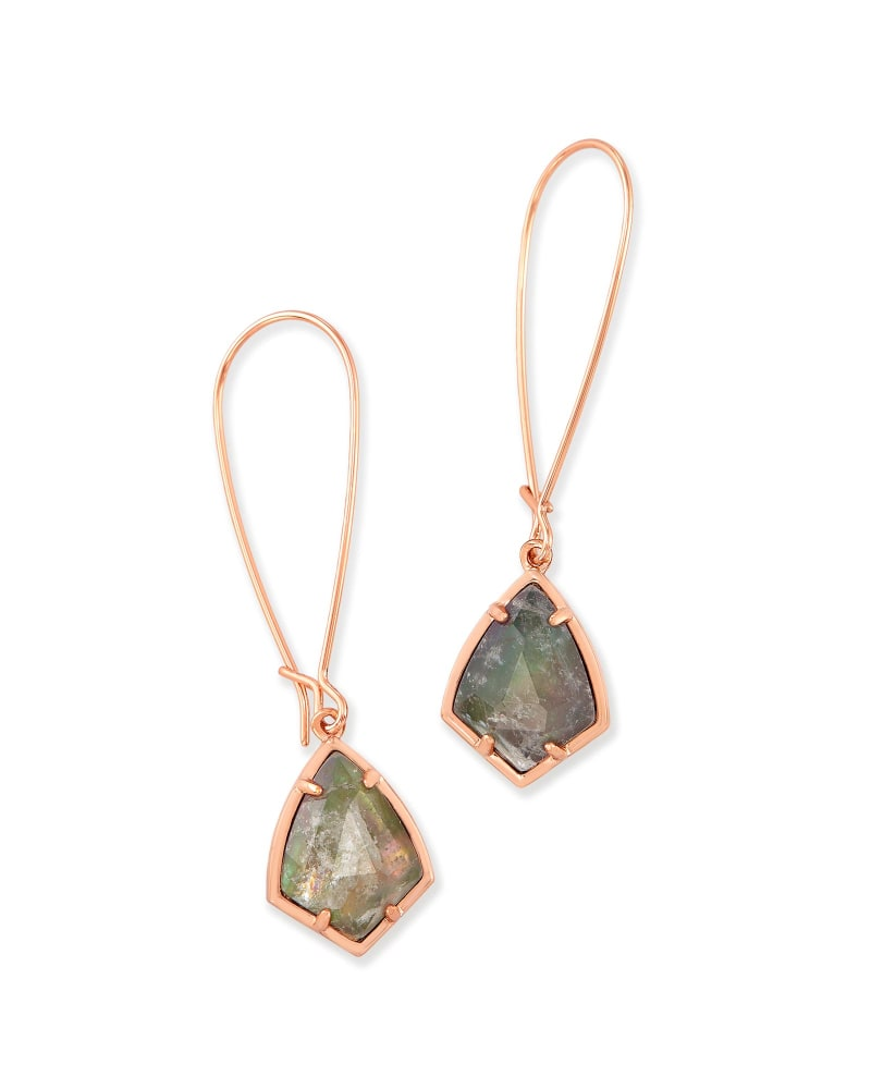 Carinne Drop Earrings in Crystal Gray Illusion