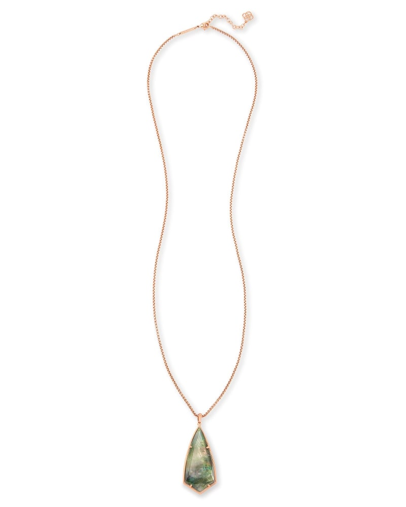 Carole Long Pendant Necklace in Crystal Gray Illusion