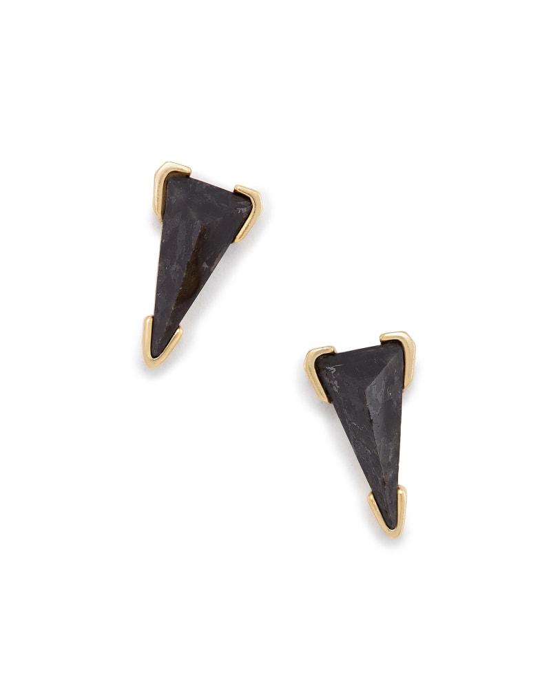 Honor Stud Earrings in Black Granite
