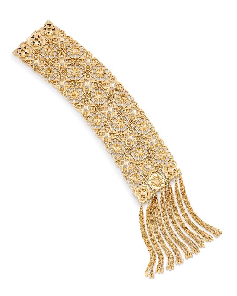 Iris Statement Bracelet in Brass