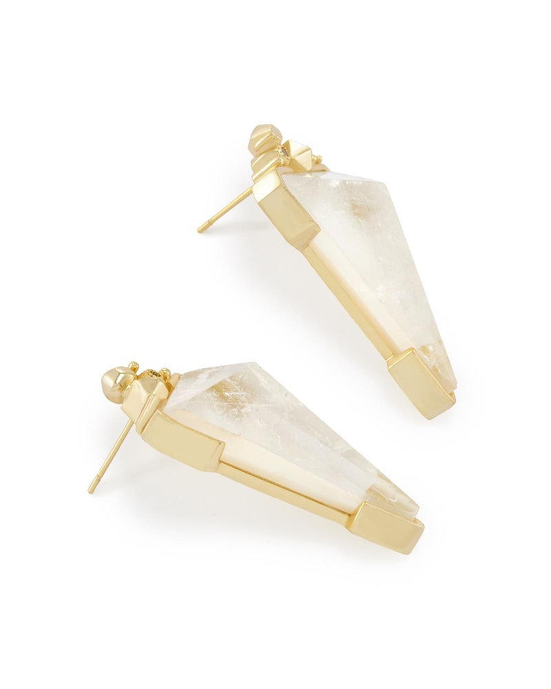 Libby Statement Earrings in Crystal Ivory Illusion