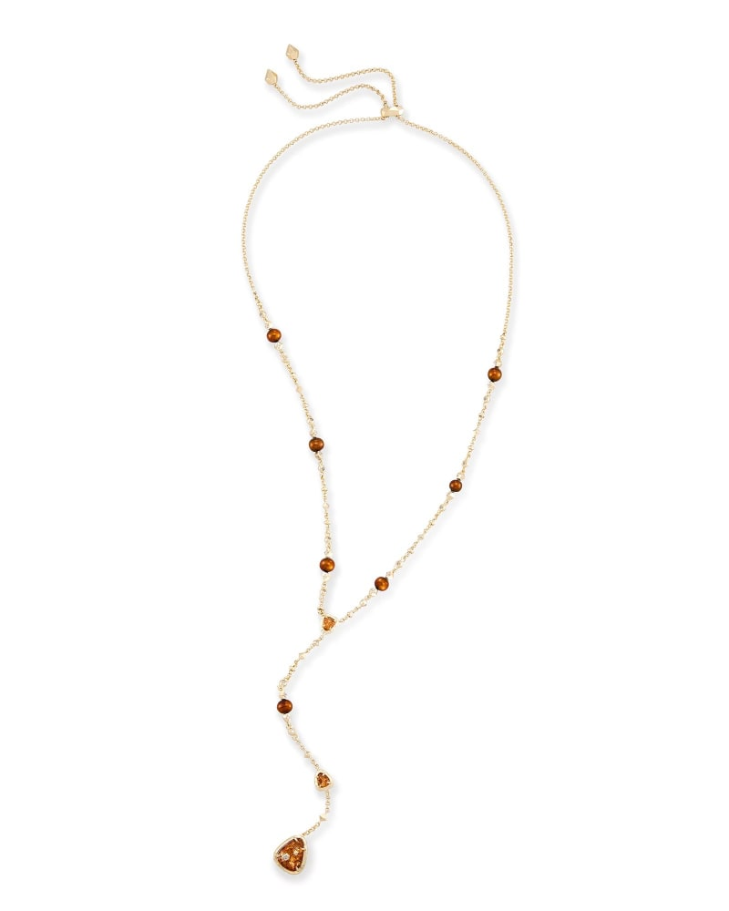 Lucielle Y Necklace in Crushed Gold Mica