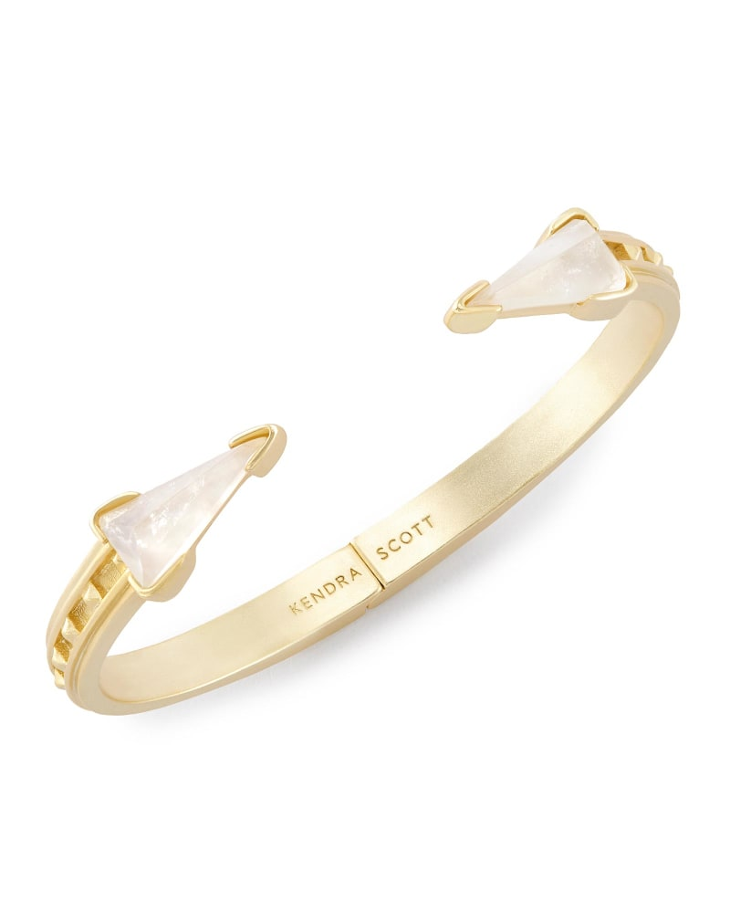 Misty Hinge Bracelet in Crystal Ivory Illusion