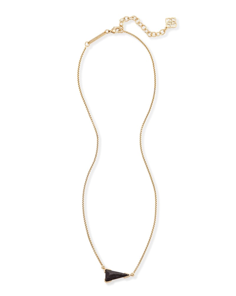 Racquel Pendant Necklace in Black Granite