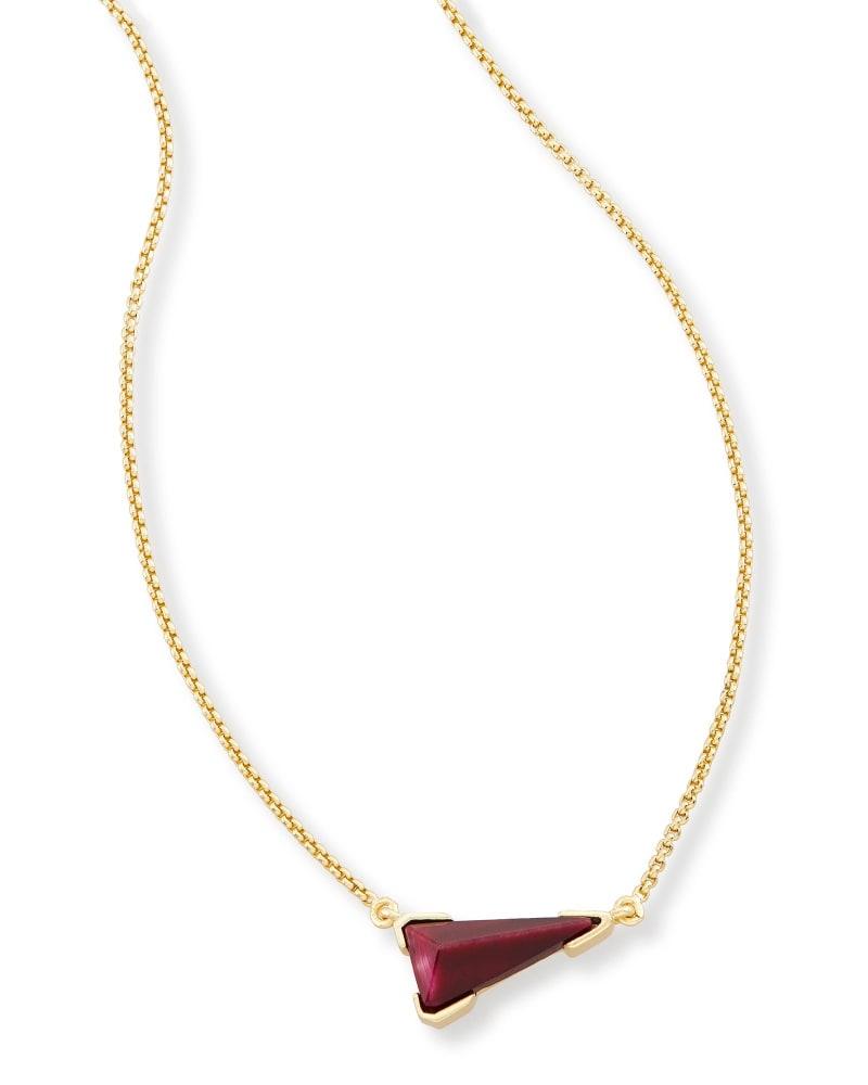 Racquel Pendant Necklace in Bordeaux Tiger's Eye