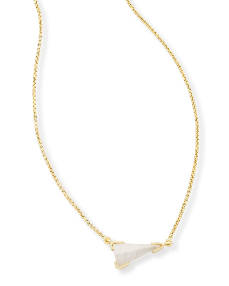 Racquel Pendant Necklace in Crystal Ivory Illusion