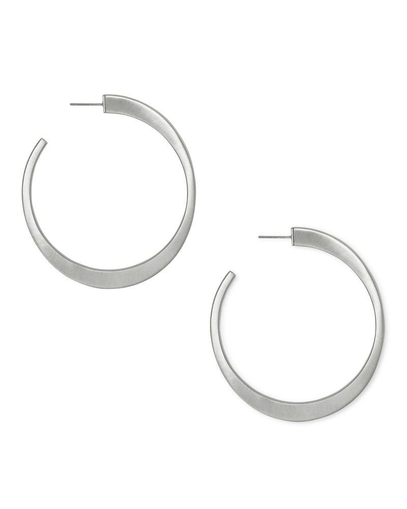 Avi Hoop Earrings In Silver