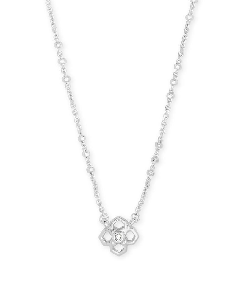 Rue Pendant Necklace In Silver