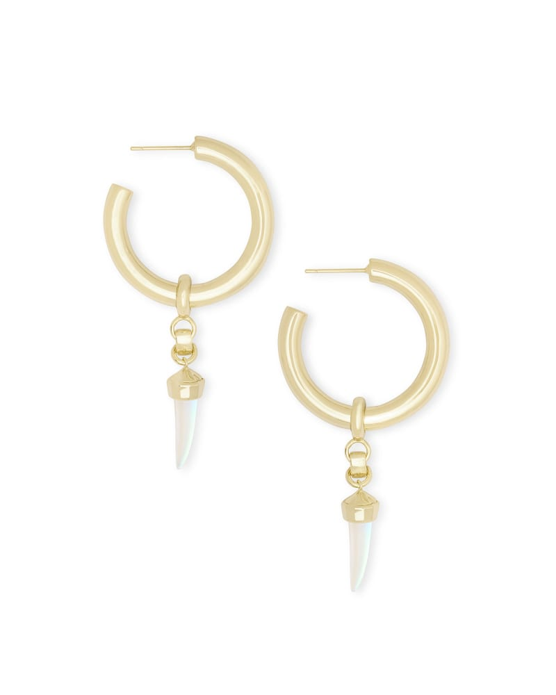 Samuel Charm Hoop Earrings