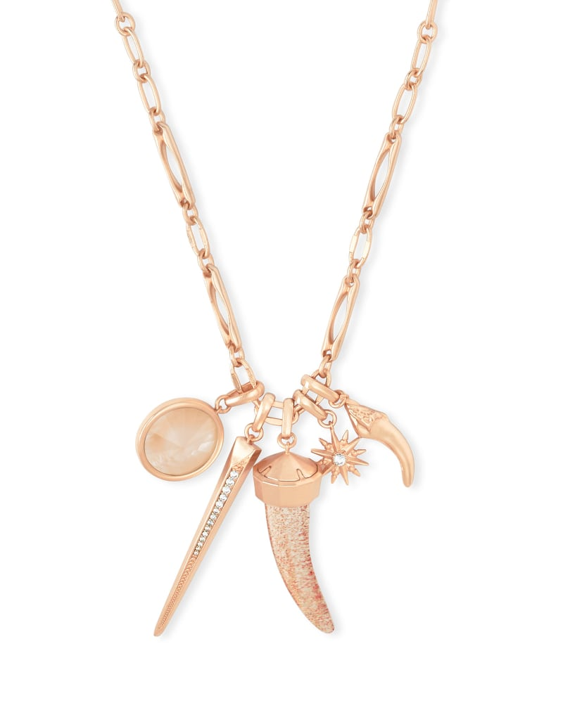 Samuel Rose Gold Charm Necklace Set In Gold Dusted Mix Kendra Scott
