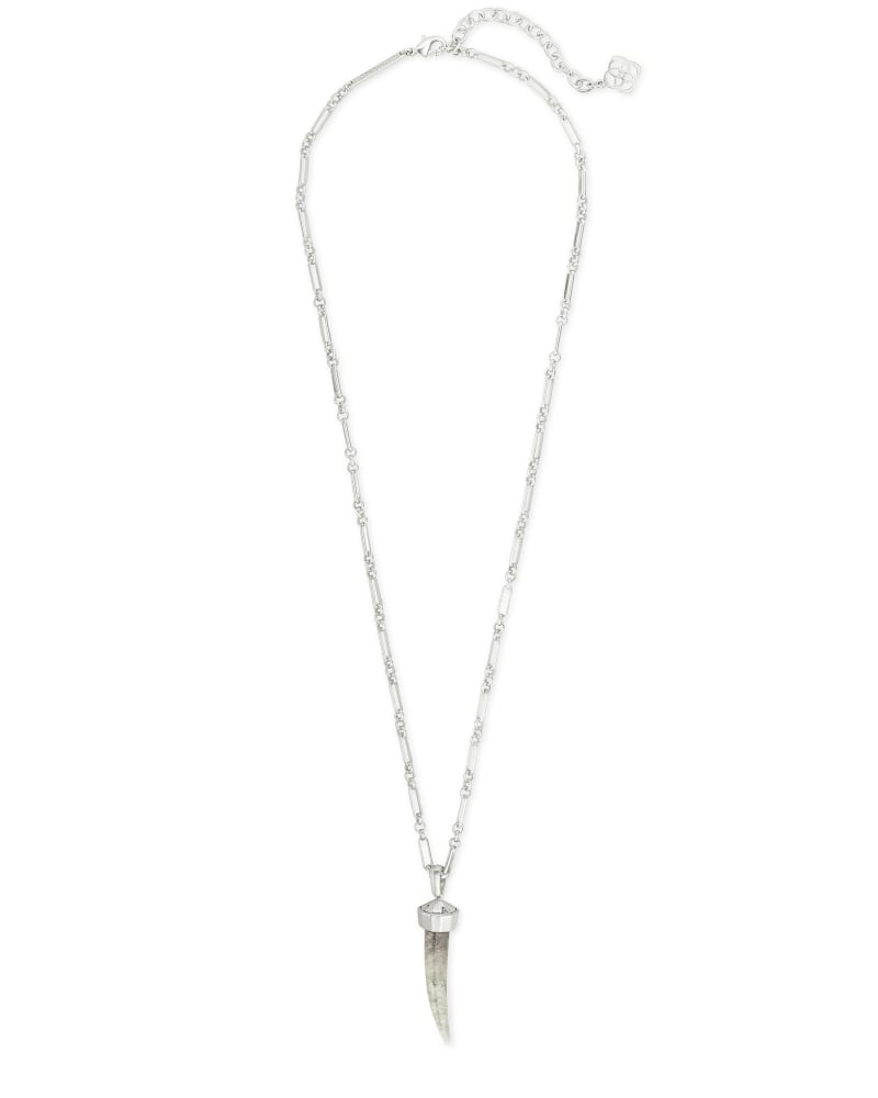 Samuel Silver Pendant Necklace In Smoky Quartz